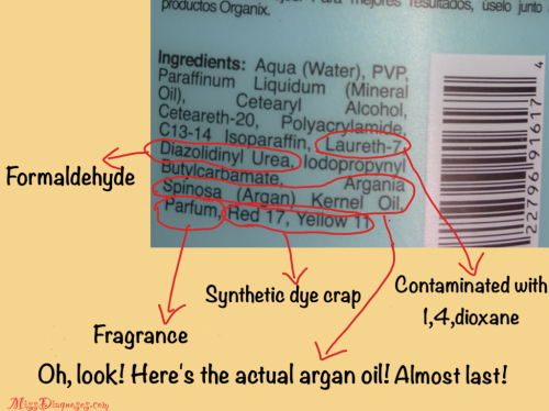 Diagram of crappy chemicals in hair products
