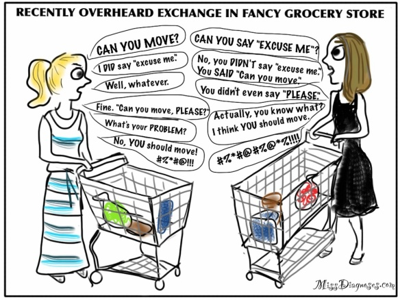 Argument in fancy grocery store