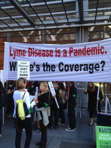 Picture of New York Times Lyme protest