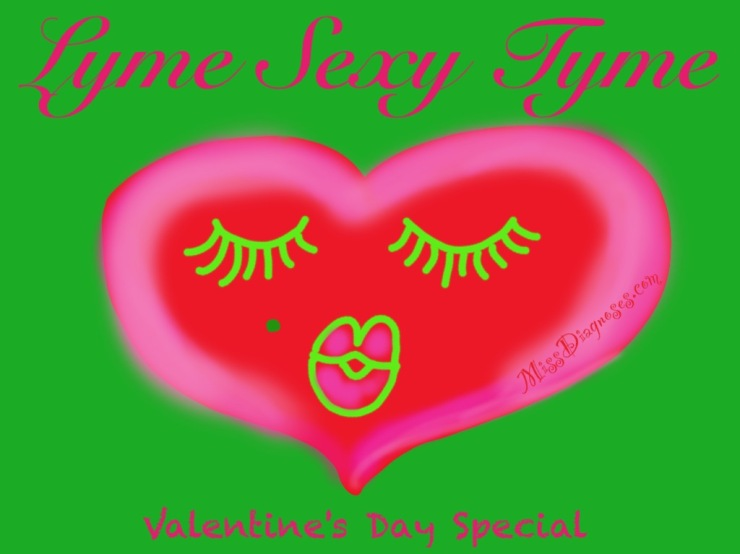 Lyme Sexy Tyme image of heart with face