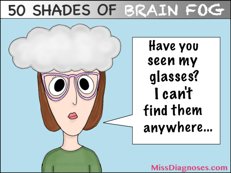 Woman thinks she lost her glasses but she is wearing them
