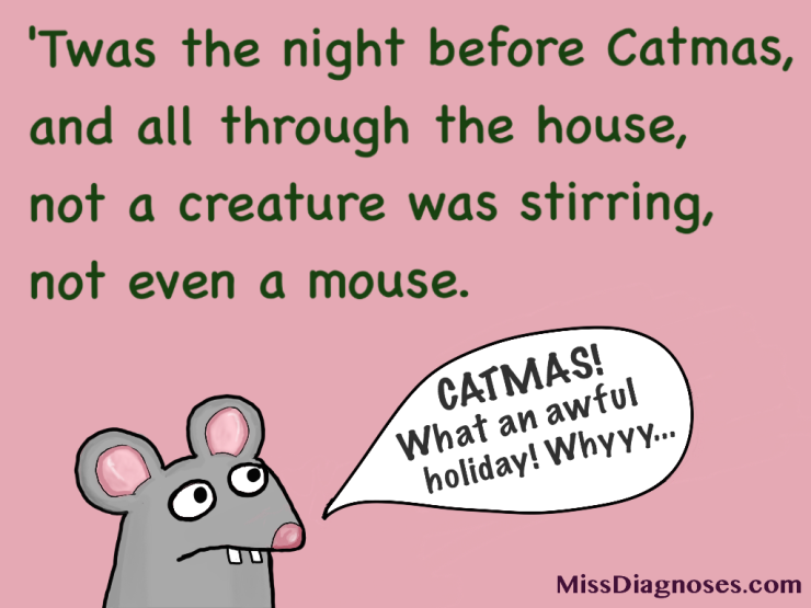 Neginning of Catmas poem The Night Before Catmas