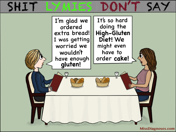 Women discussed being on a high gluten diet