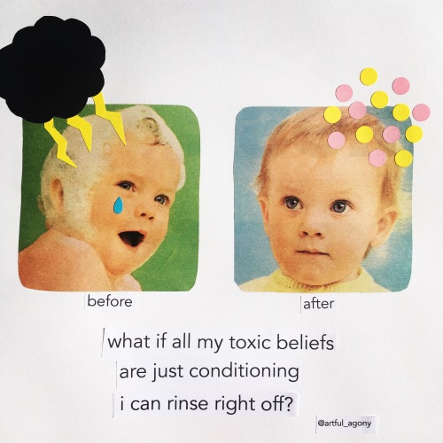 Rinse off toxic beliefs like conditioner