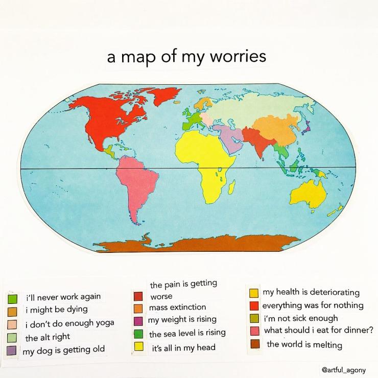 Map of worries